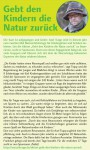 Rappel-Post über Aktion - Gebt den Kindern die Natur zurück