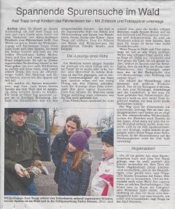 Wetterauer Zeitung Wurzeltrapp Fährtenlesen in Karben