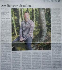 Frankfurter Allgemeine Sonntagszeitung vom 11.10.2015 Wurzeltrapp Wildnisschule in den Medien