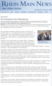 Rhein Main News - Bad Vilbel Online - Vortrag beim Nabu Karben über Die Geheimnisse des Fährtenlesens