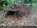 Survival und Bushcraft :: Laubhütte Schritt 3
