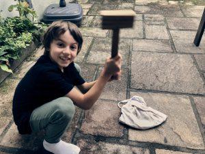 Rosskastanie Waschmittel Projekt mit Kindern Wurzeltrapp Wildnisschule